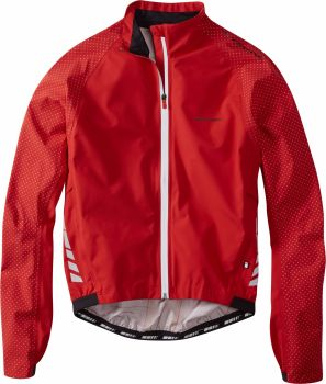 Madison Sportive Hi Viz Mens Waterproof Jacket Flame Red