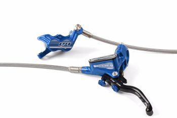 Hope Tech 3 E4 Disc Brake Front R/H Braided Hose Blue