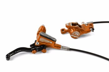 Hope Tech 3 X2 Disc Brake Front R/H Braided Hose Orange