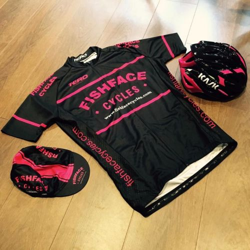 Fishface Cycles Nero/Fuschia Short Sleeve Jersey