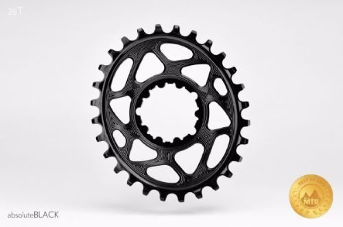 absoluteBlack Sram Direct Mount GXP Oval Chainring Black 28T