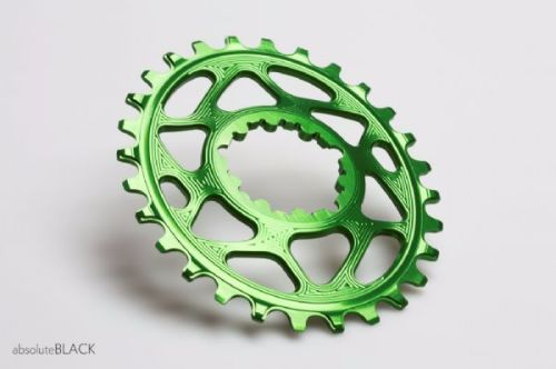 absoluteBlack Sram Direct Mount GXP Oval Chainring Green 28T