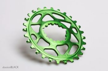 absoluteBlack Sram Direct Mount GXP Oval Chainring Green 30T