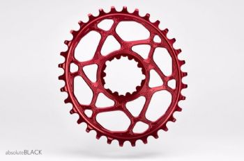 absoluteBlack Sram Direct Mount GXP Oval Chainring Red 28T