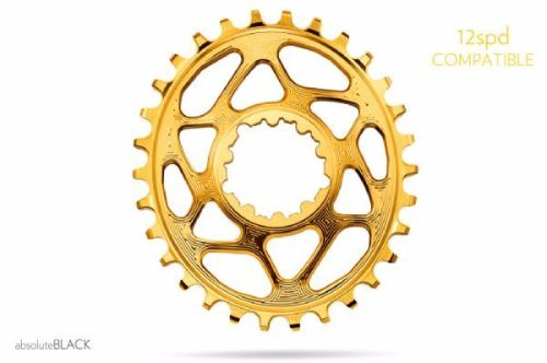absoluteBlack Sram Direct Mount GXP Oval Chainring Gold 28T