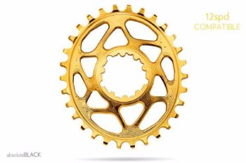 absoluteBlack Sram Direct Mount GXP Oval Chainring Gold 34T