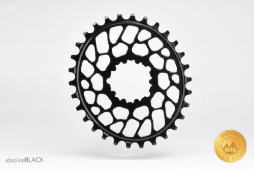 absoluteBlack Sram Direct Mount BB30 Oval Chainring Black 30T