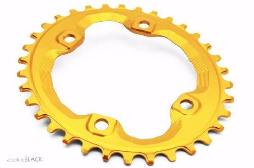 absoluteBlack Shimano XT M8000/MT700 Spider Mount Oval Chainring Gold 34T