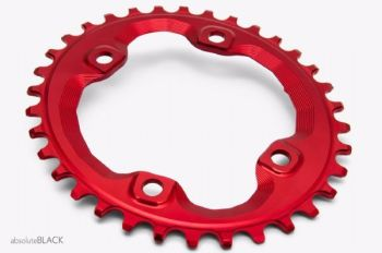 absoluteBlack Shimano XT M8000/MT700 Spider Mount Oval Chainring Red 36T