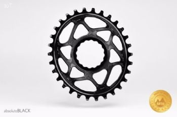 absoluteBlack Race Face Cinch Direct Mount Oval Chainring Black 26T