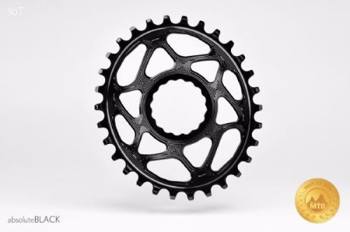 absoluteBlack Race Face Cinch Direct Mount Oval Chainring Black 30T