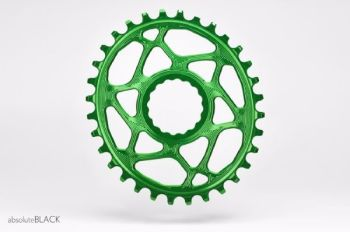 absoluteBlack Race Face Cinch Direct Mount Oval Chainring Green 28T