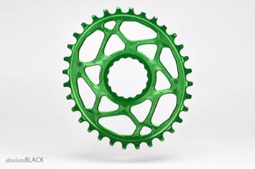 absoluteBlack Race Face Cinch Direct Mount Oval Chainring Green 32T