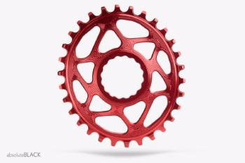 absoluteBlack Race Face Cinch Direct Mount Oval Chainring Red 32T