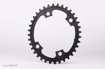 absoluteBlack 110BCD 4 Bolt Spider Mount Oval Chainring Black 34T