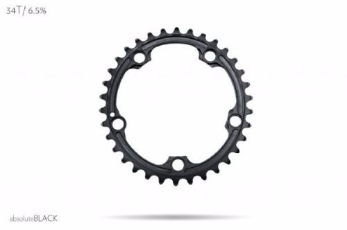 absoluteBlack Sram 110BCD 5 Bolt Spider Mount Oval Chainring Black 34T