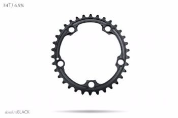 absoluteBlack Sram 110BCD 5 Bolt Spider Mount Oval Chainring Black 36T