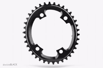 absoluteBlack CX 110BCD 4 Bolt Spider Mount Oval Chainring Black 38T