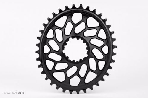 absoluteBlack CX Direct Mount GXP & BB30 Oval Chainring Black 36T