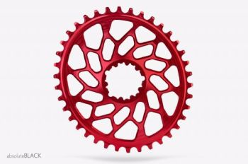 absoluteBlack CX Direct Mount GXP & BB30 Oval Chainring Red 38T