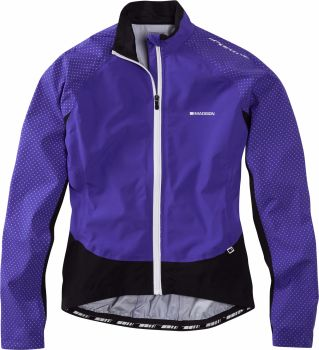 Madison Sportive Hi Viz Womens Jacket Purple Reign