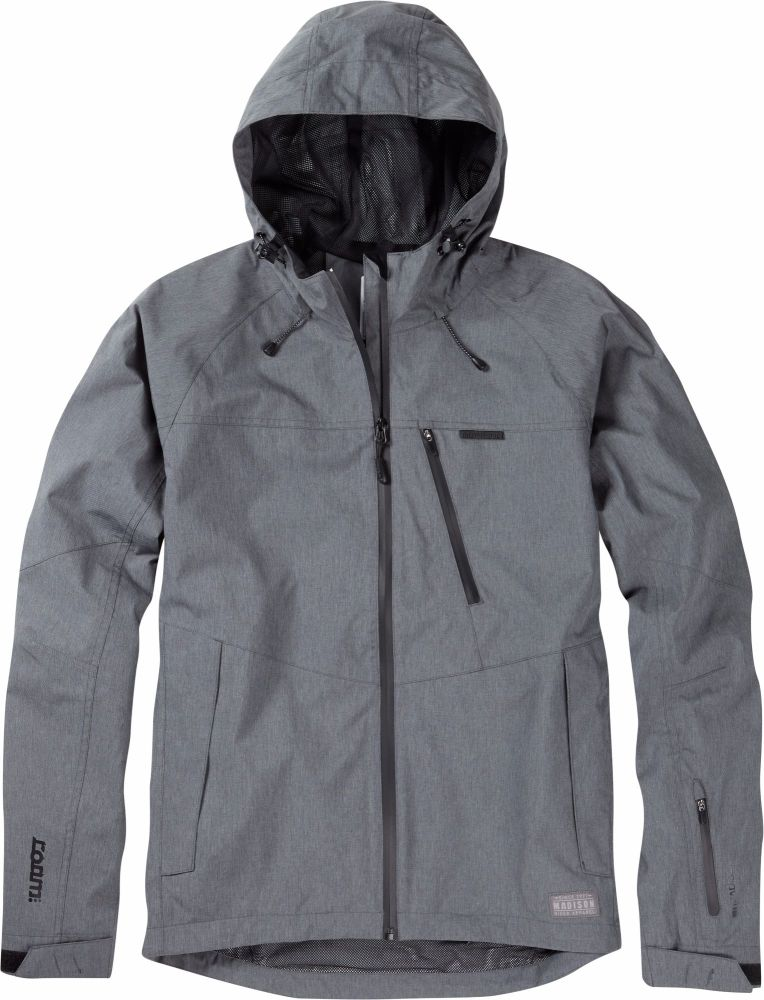 Madison Roam Mens Waterproof Jacket Dark Shadow