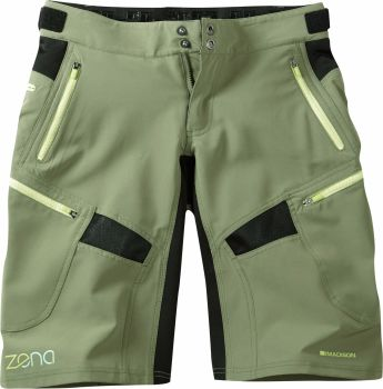 Madison Zena Womens Shorts Olive Green