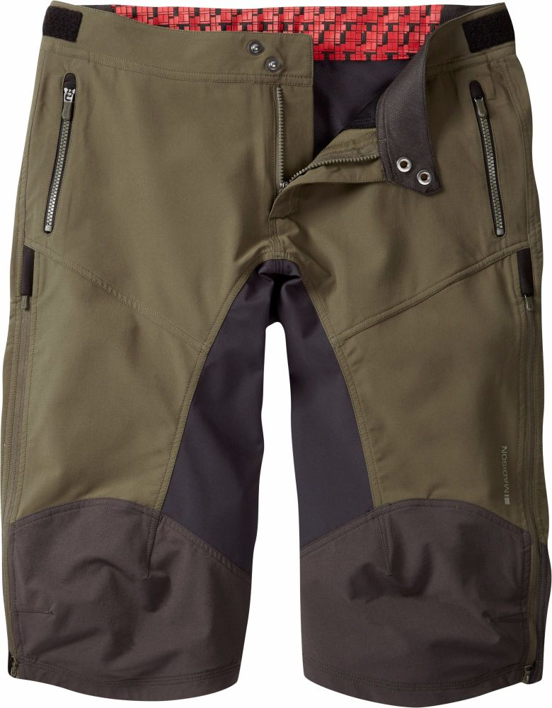 Madison Zenith Mens 4 Season DWR Shorts Dark Olive