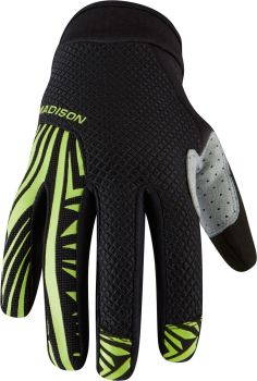 Madison Flux Mens Gloves Black / Krypton Lime