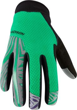 Madison Flux Mens Gloves Emerald Green / Black