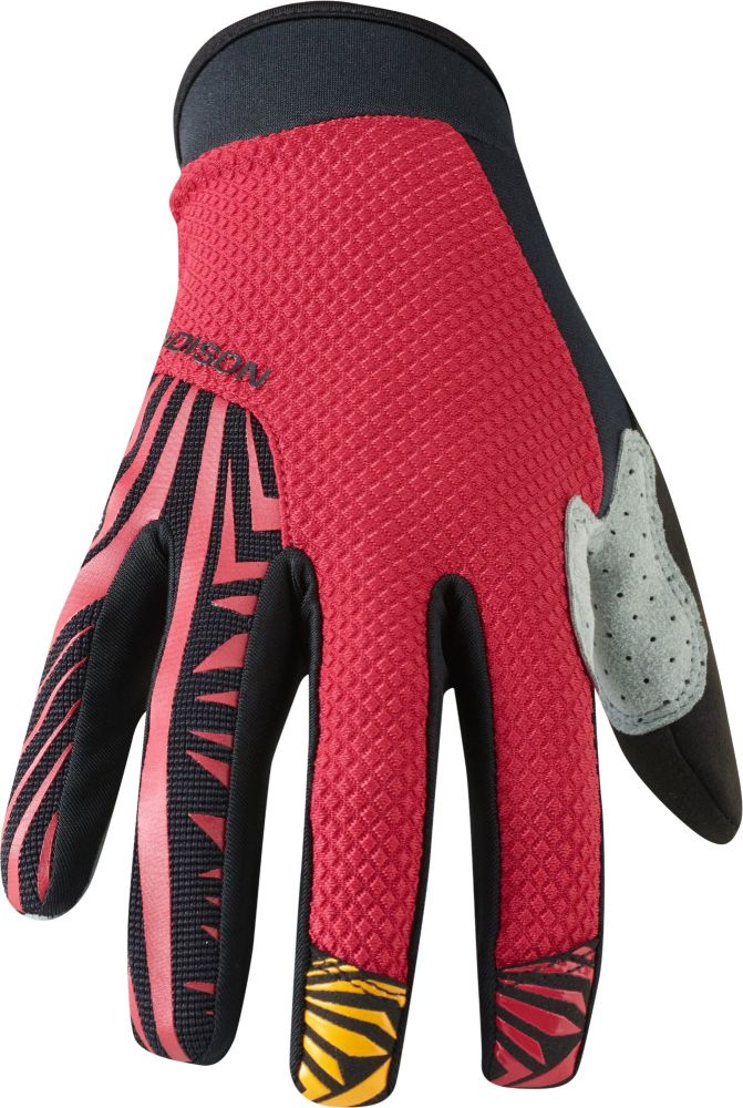Madison Flux Mens Gloves True Red / Black