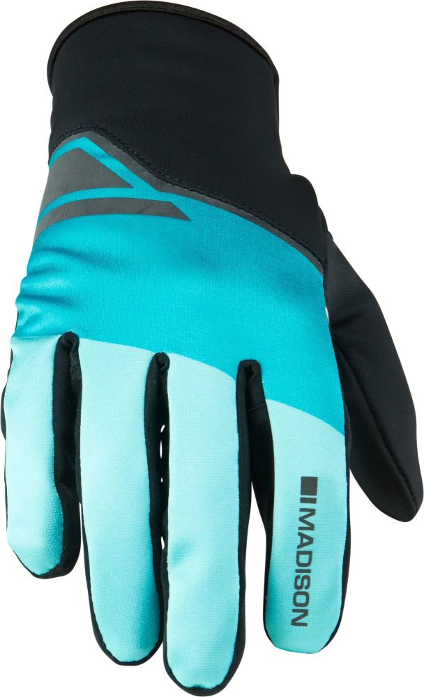 Madison Sprint Mens Softshell Gloves Blue Curaco Blocks