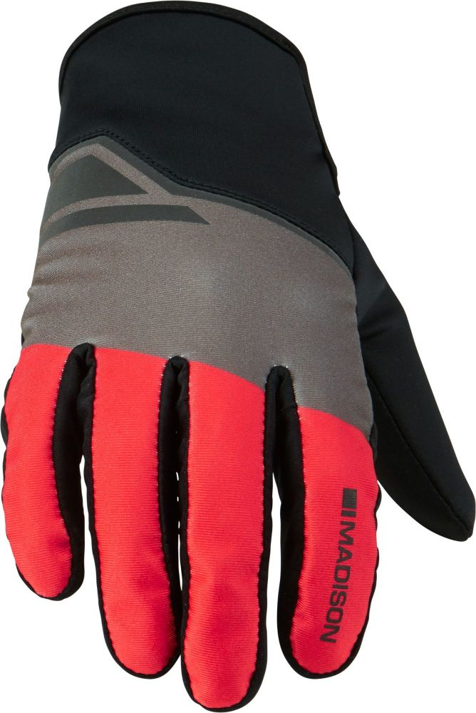 Madison Sprint Mens Softshell Gloves Flame Red Blocks