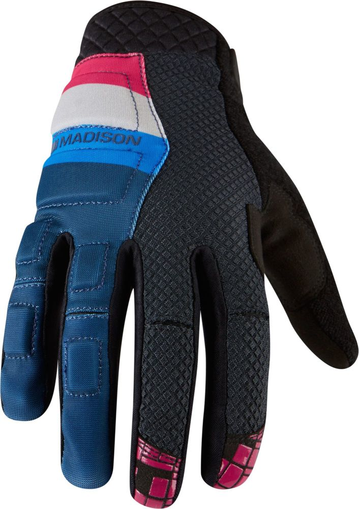 Madison Zenith Mens Gloves Atlantic Blue / Cloud Grey