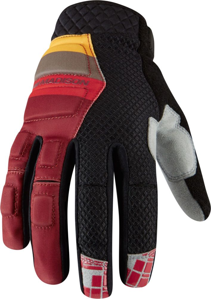 Madison Zenith Mens Gloves Blood Red / Black