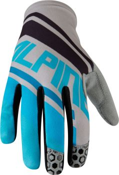 Madison Alpine Mens Gloves Blue Stripes / Cloud Grey