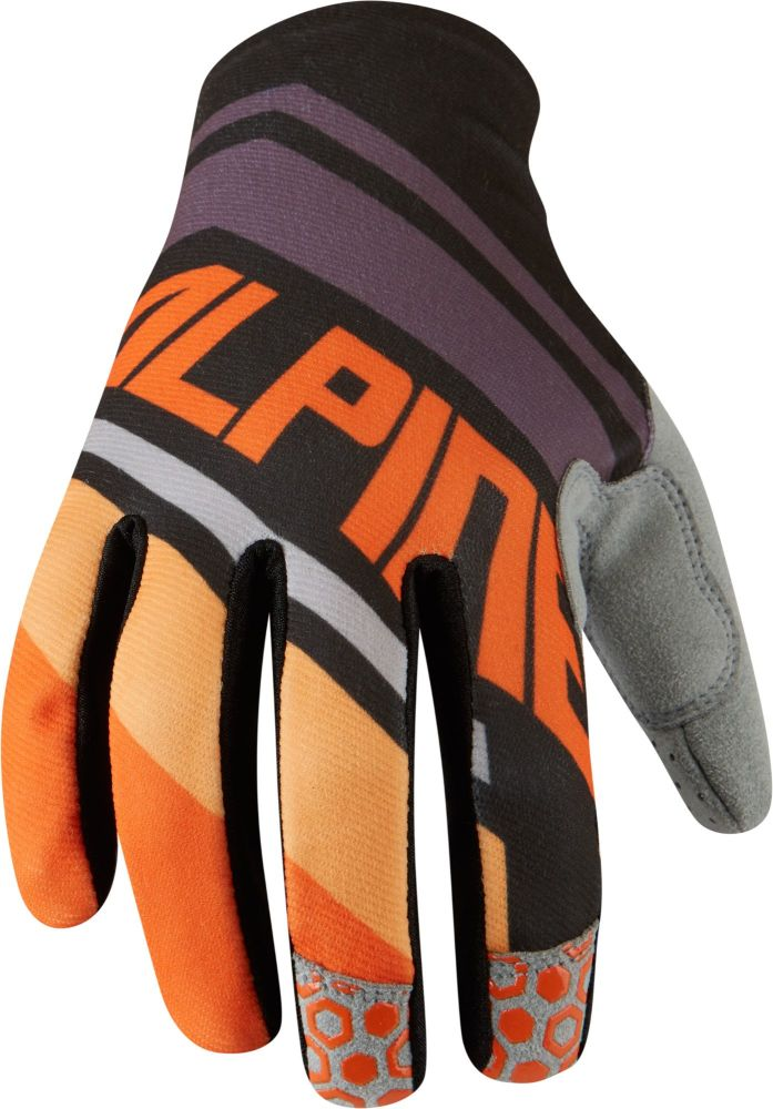 Madison Alpine Mens Gloves Orange Stripes / Black