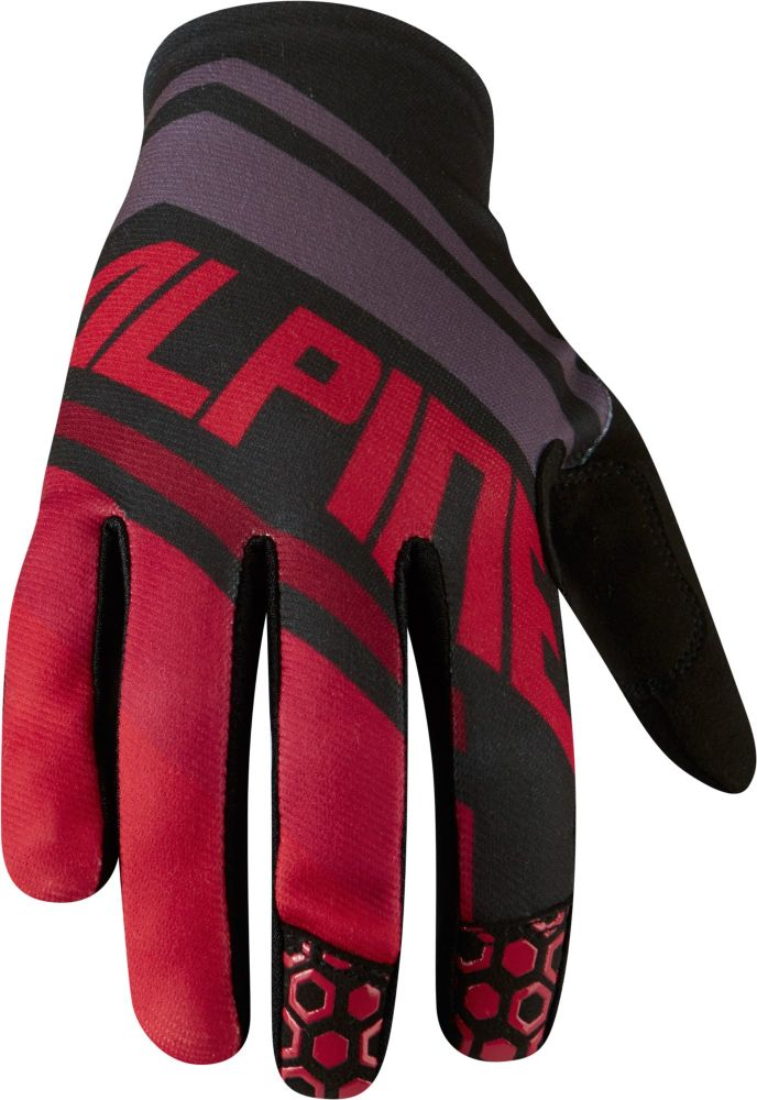 Madison Alpine Mens Gloves Red Stripes / Black