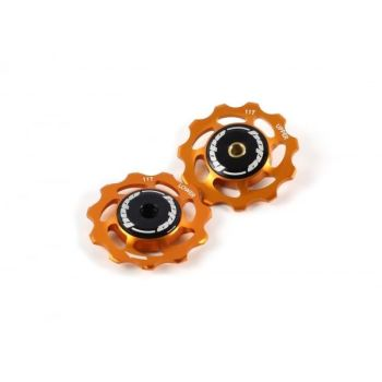 Hope 11 Tooth Jockey Wheels - Pair Orange