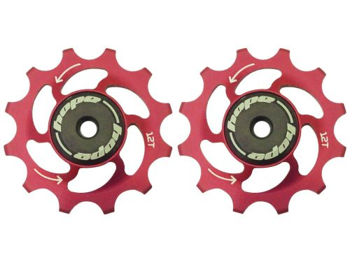 Hope 12 Tooth Jockey Wheels - Pair Red