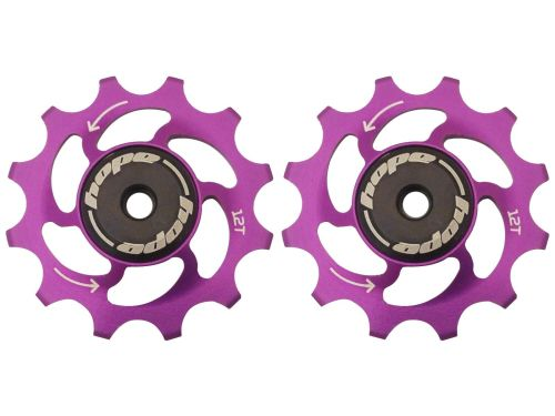 Hope 12 Tooth Jockey Wheels - Pair Purple