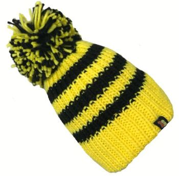 Big Bobble Hats - Bees Knees - Black and Yellow Bobble Hat