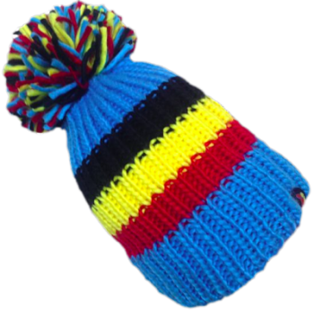 Big Bobble Hats - Belgian Beast - Blue Bobble Hat