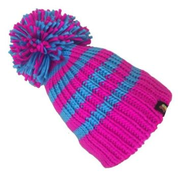 Big Bobble Hats - Electric Shock - Pink and Blue Bobble Hat