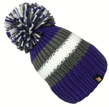 Big Bobble Hats - Grape Expectations - Purple Bobble Hat
