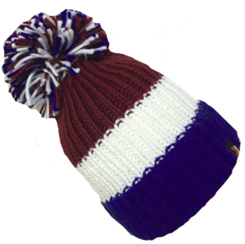 Big Bobble Hats - Hatty McHatface - Blue and White Bobble Hat