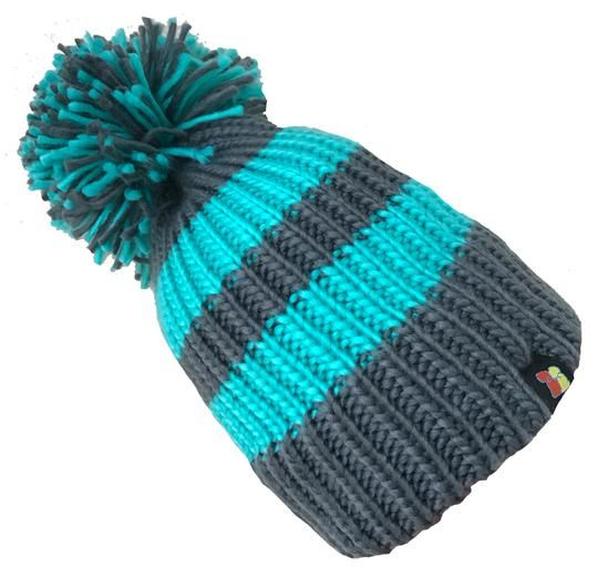 Big Bobble Hats - Jade Confusion!- Green & Grey Bobble Hat
