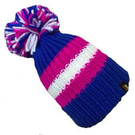 Big Bobble Hats - Marshmallow Sandwich - Blue Bobble Hat