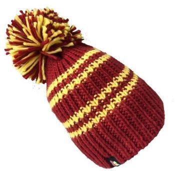 Big Bobble Hats - The Hat That Shall Not be Named! - Red & Yellow Bobble Hat