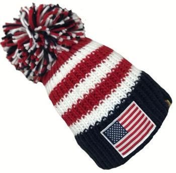 Big Bobble Hats - The Patriot! - Navy, Red and White Bobble Hat